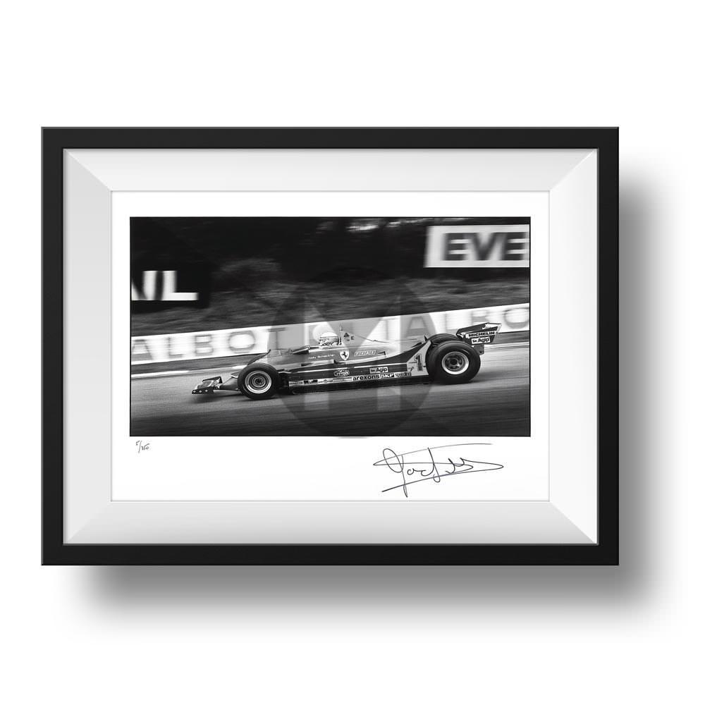 Product image for Scheckter Ferrari 315 T5 AT Brands Hatch 1980: Signed