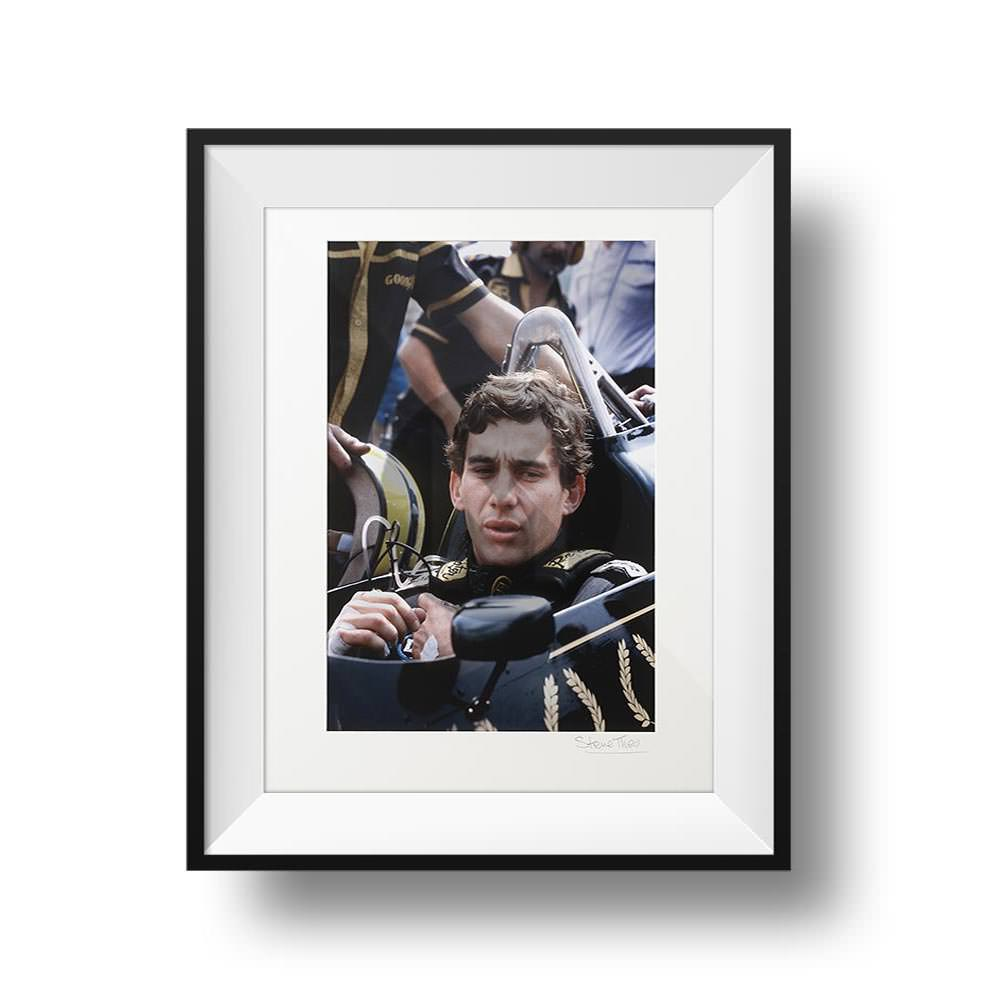 Product image for Ayrton Senna in JP Lotus 98t at Brands Hatch portrait