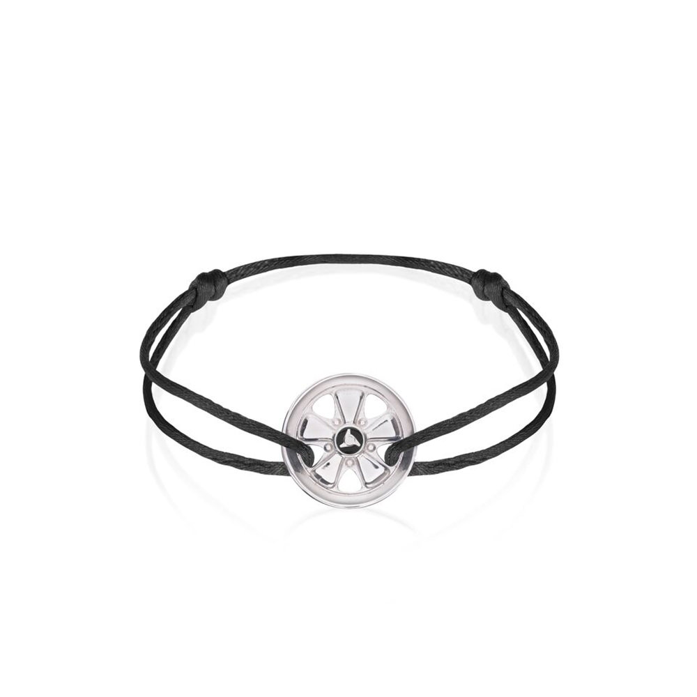Product image for 911 Wheel on Black Metallic Bracelet
