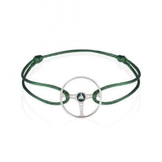Product image for Racing Green on British Racing Green Cord Bracelet