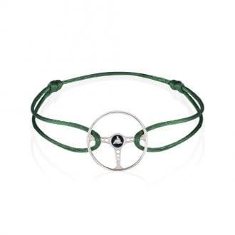 Product image for Revival Steering Wheel on British Green Racing Bracelet