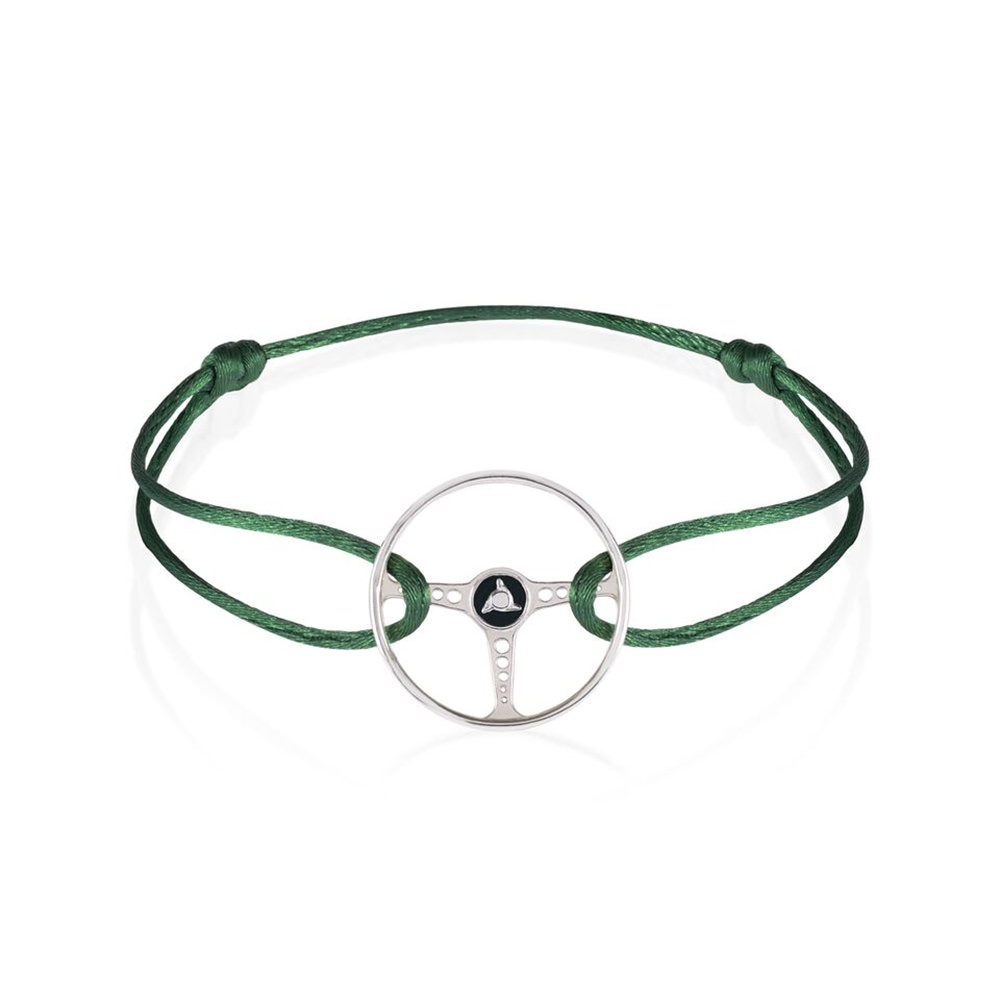 Product image for Revival Steering Wheel on British Green Racing Bracelet