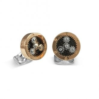 Product image for Mechanical Gear Cufflinks Rose Gold