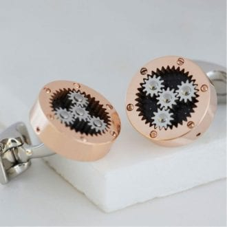 Product image for Mechanical Gear Cufflinks Rose Gold light