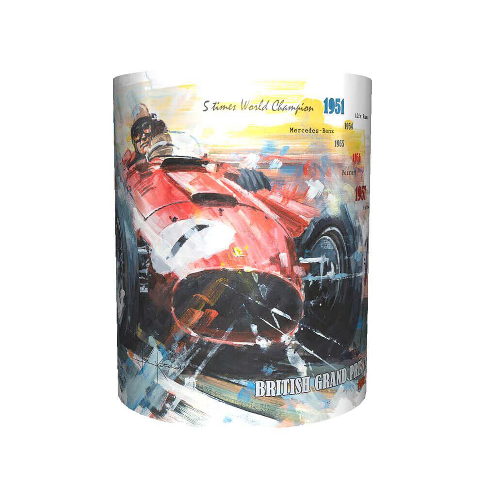 Product image for Juan Manuel Fangio & Ferrari Art Mug
