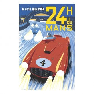Product image for 1954 Le Mans 24 Hours Poster