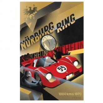 Product image for 1970 Nurburgring 1000kms Poster