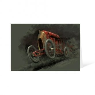 Product image for Fiat S76 'The Beast of Turin' - Stefan Marjoram A5 Greeting Card