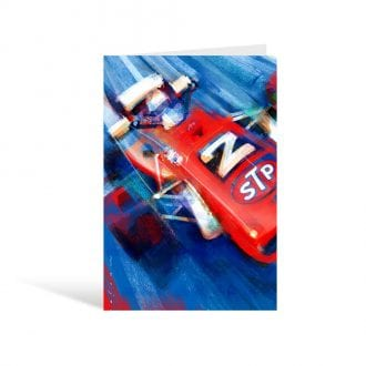 Product image for STP Anniversary Mario Andretti - Stefan Marjoram Greeting Card