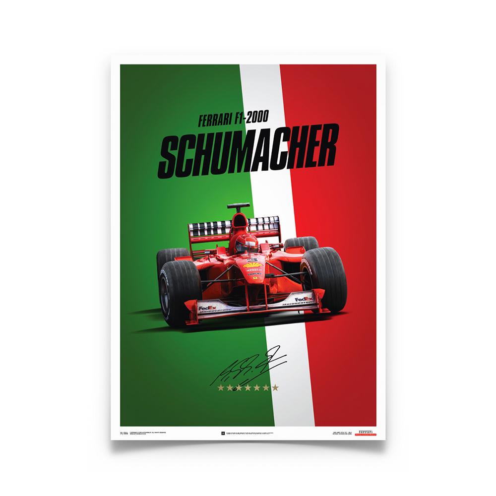 Product image for Ferrari F1-2000 Michael Schumacher Italy Suzuka GP Poster