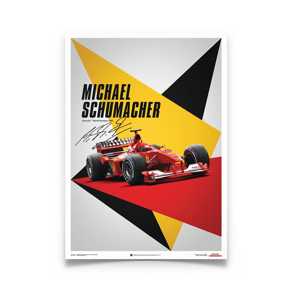 Product image for Ferrari F1-2000 Michael Schumacher Japan Suzuka GP Poster