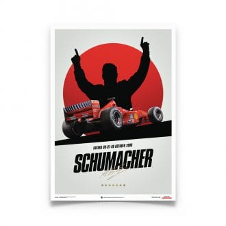 Product image for Ferrari F1-2000 Michael Schumacher Germany Suzuka GP Poster