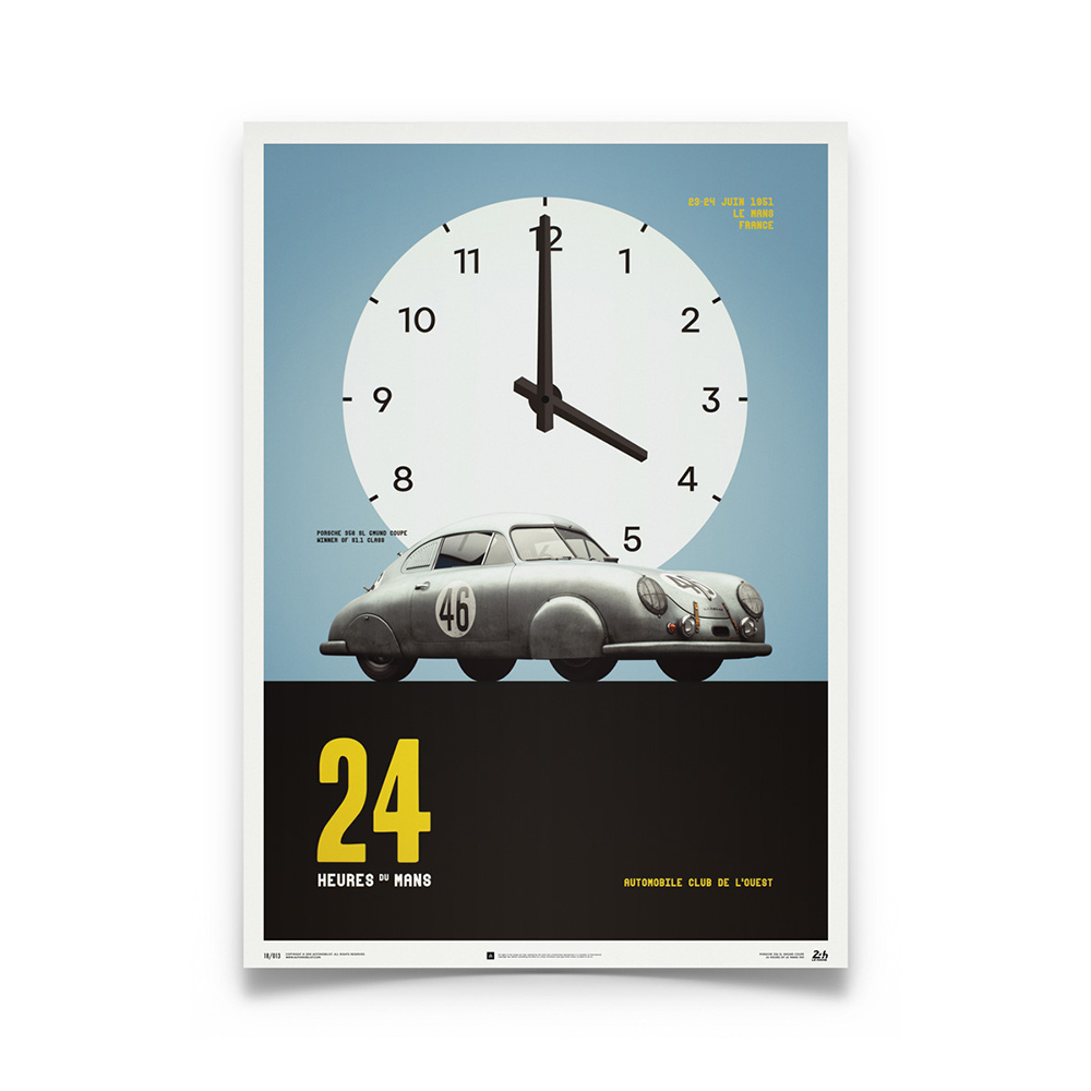 Product image for Porsche Gmund Silver 24h Le Mans 1951 Poster