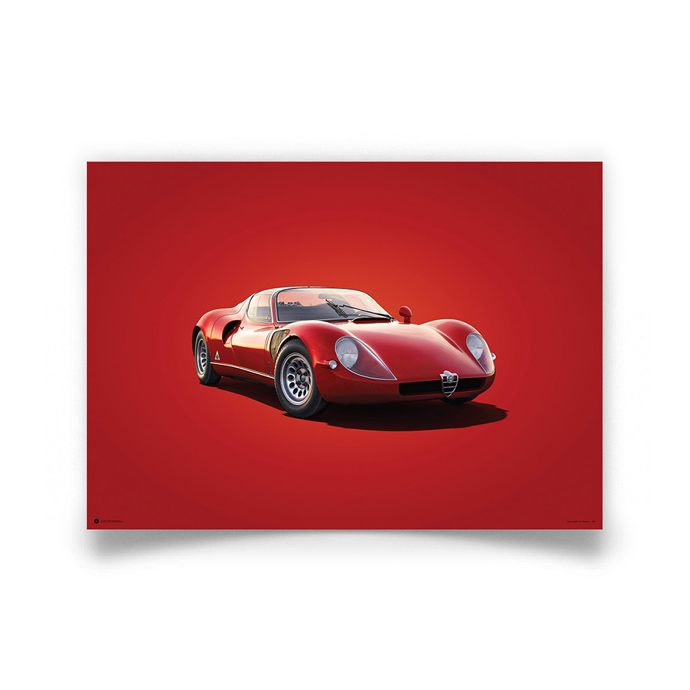 Product image for Alfa Romeo 33 Stradale Red 1967 Colors of Speed Poster