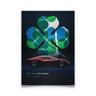 Product image for Alfa Romeo 33 Stradale Red 1967 Poster