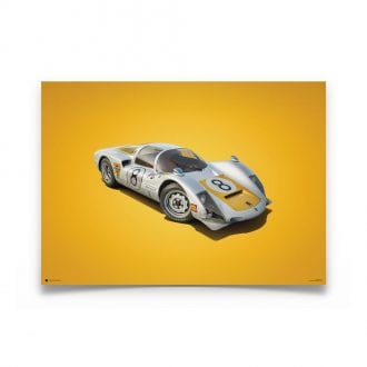Product image for Porsche 906 White Japanese GP 1967 Colors of Speed Poster