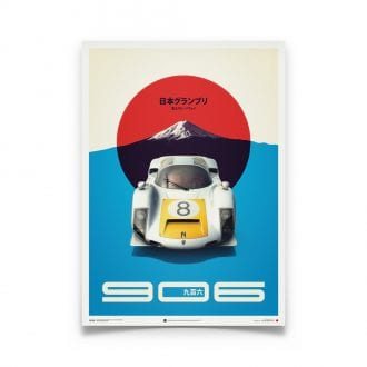 Product image for Porsche 906 White Japanese GP 1967 Poster