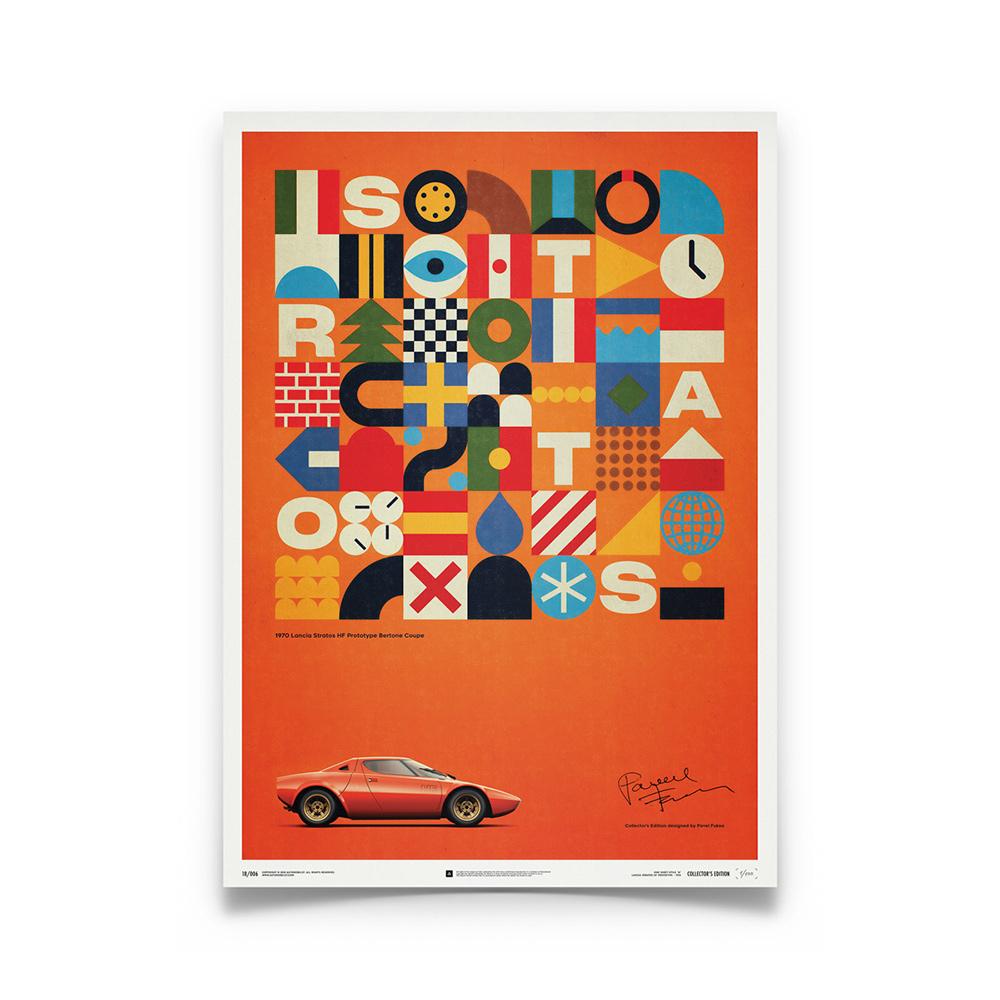 Product image for Lancia Stratos HF Prototype - Orange - 1971 - U&L Edition Poster
