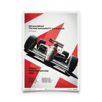 Product image for McLaren MP4/4 Ayrton Senna MP4/4 San Marino GP 1988 Poster