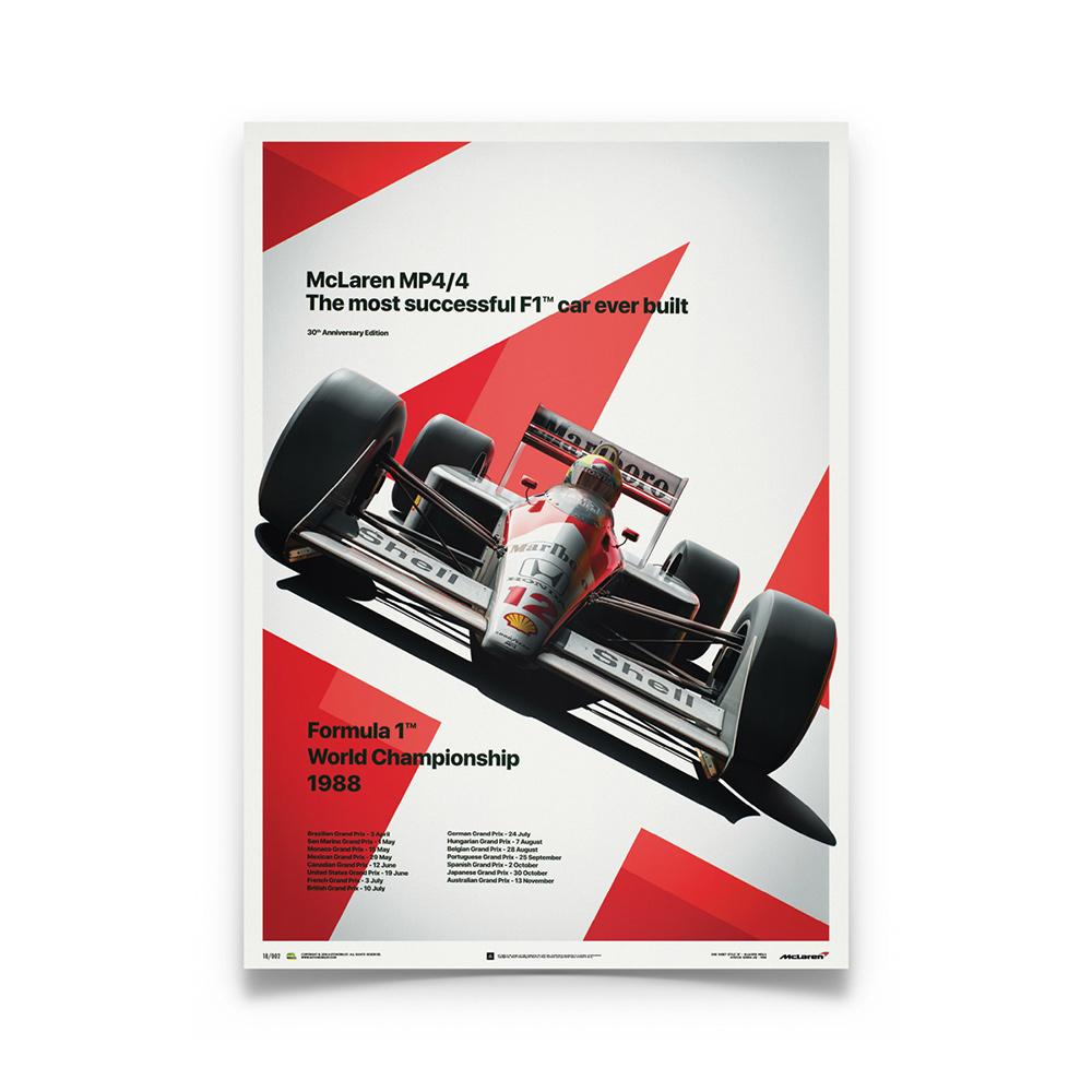 Product image for McLaren MP4/4 Ayrton Senna MP4/4 San Marino GP 1988 Poster