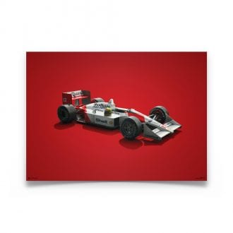Product image for McLaren MP4/4 Ayrton Senna San Marino GP Colors of Speed Poster