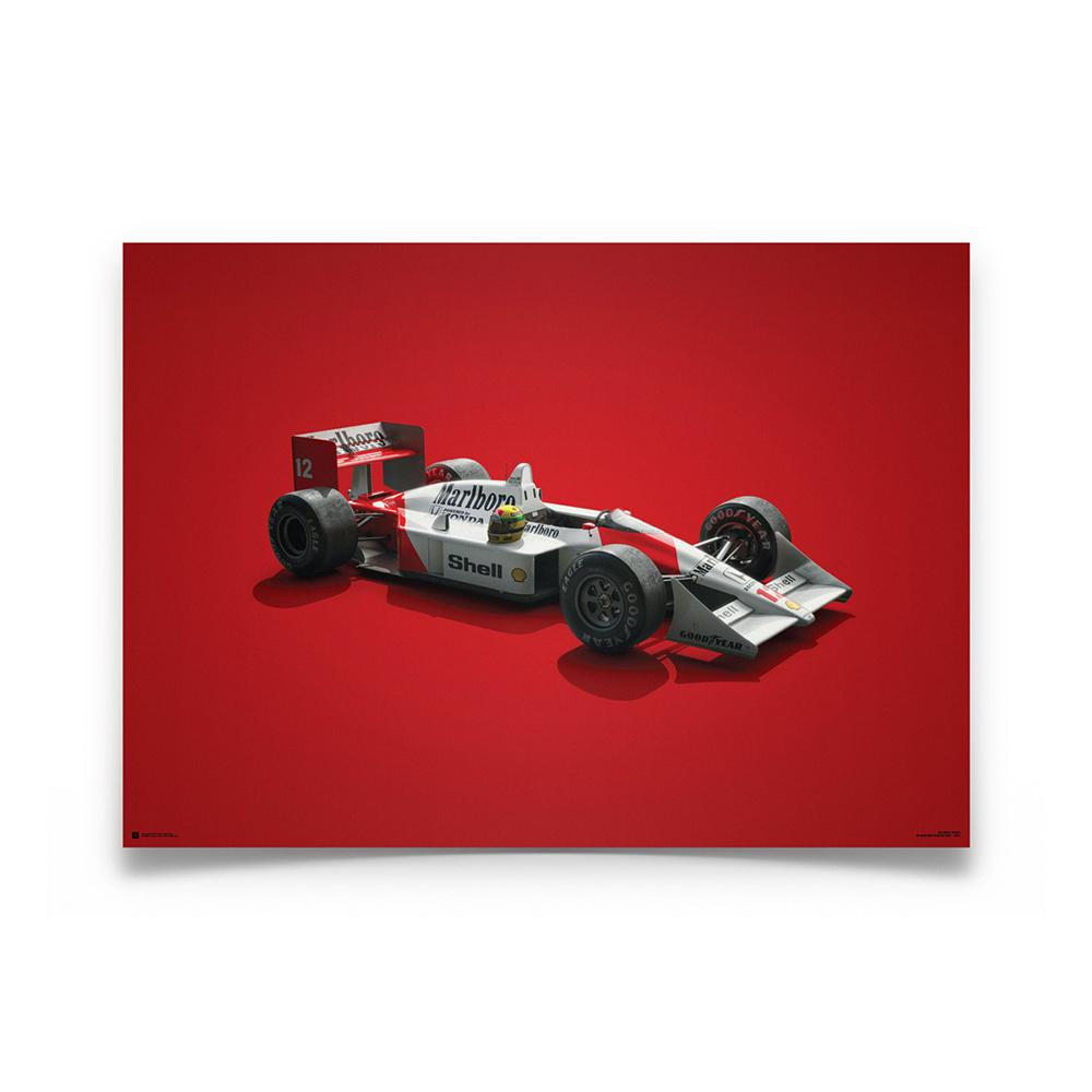 Product image for McLaren MP4/4 Ayrton Senna San Marino GP Colors of Speed Poster