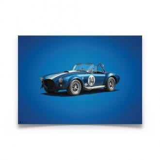 Product image for Shelby-Ford AC Cobra Mk III Blue 1965 Colors of Speed Poster