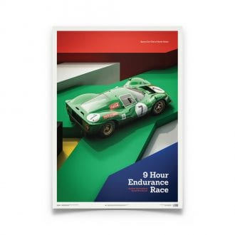 Product image for Ferrari 412P Green Kyalami 9 Hour 1967: Limited Poster