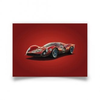 Product image for Ferrari 412P Red Daytona 1967 Colors of Speed Poster