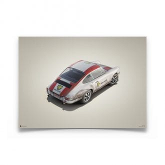 Product image for Porsche 911R BP Racing Monza 1967 Colors of Speed Poster