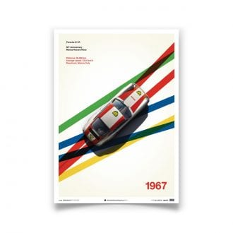 Product image for Porsche 911R BP Racing Monza 1967: Limited Poster