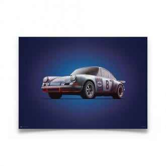 Product image for Porsche 911 RSR Martini Targa Florio 1973 Colors of Speed Poster