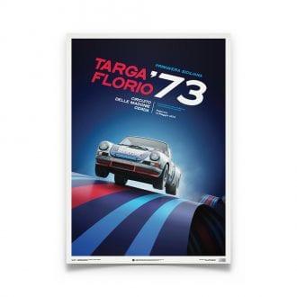 Product image for Porsche 911 RSR Martini Targa Florio 1973: Limited Poster