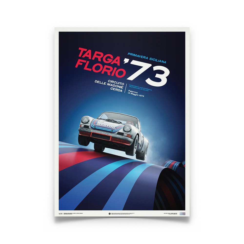 Product image for Porsche 911 RSR Martini Targa Florio 1973: Limited Poster