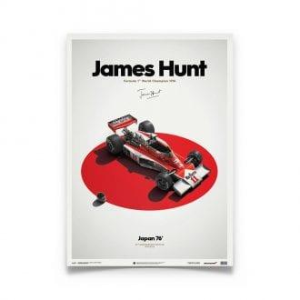 Product image for McLaren M23 James Hunt Japanese GP 1976: Limited Poster