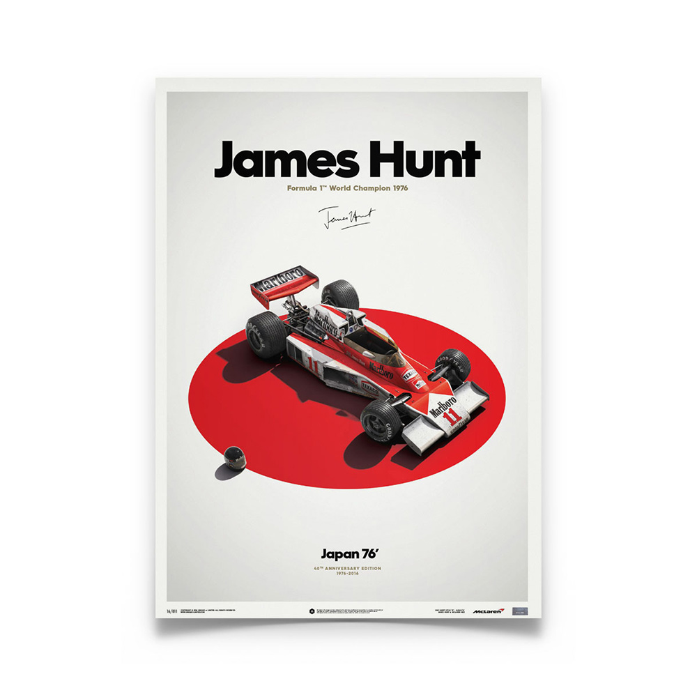 Product image for McLaren M23 James Hunt Japanese GP 1976: Limited Poster