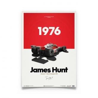 Product image for McLaren M23 James Hunt Marlboro Japanese GP 1976: Limited Poster