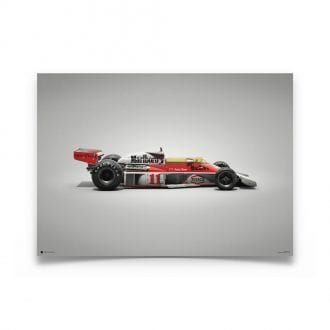 Product image for McLaren M23 James Hunt Japanese GP 1976 Colors of Speed Poster