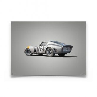 Product image for Ferrari 250 GTO Silver Tour de France 1964 Colors of Speed Poster