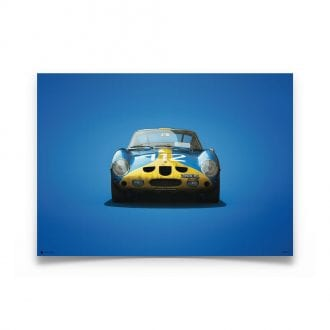 Product image for Ferrari 250 GTO Blue Targa Florio 1964 Colors of Speed Poster