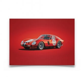 Product image for Ferrari 250 GTO Red 24h Le Mans 1962 Colors of Speed Poster