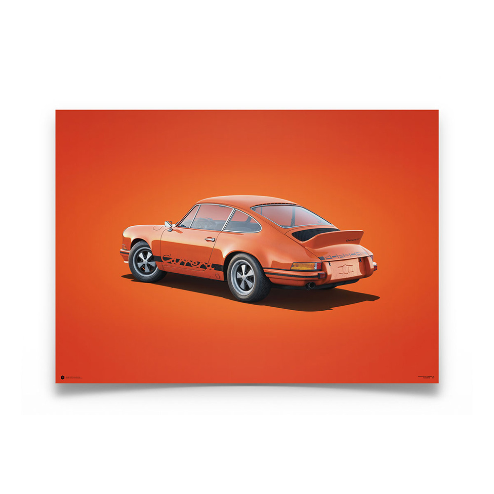 Product image for Porsche 911 RS Tangerine Colors of Speed Poster