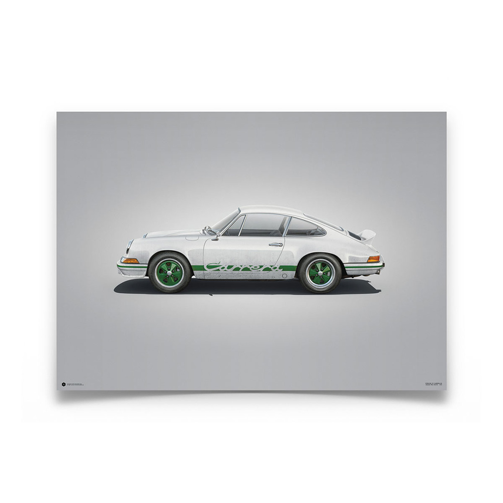 Product image for Porsche 911 RS White Colors of Speed Poster