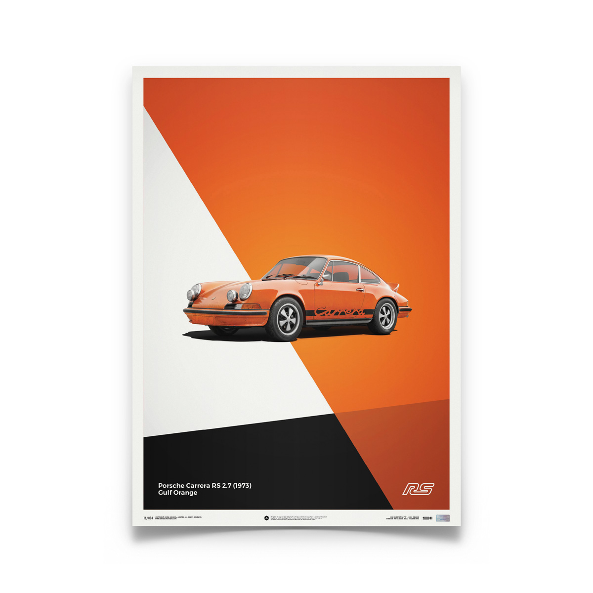 Product image for Porsche 911 RS Orange: Limited Poster