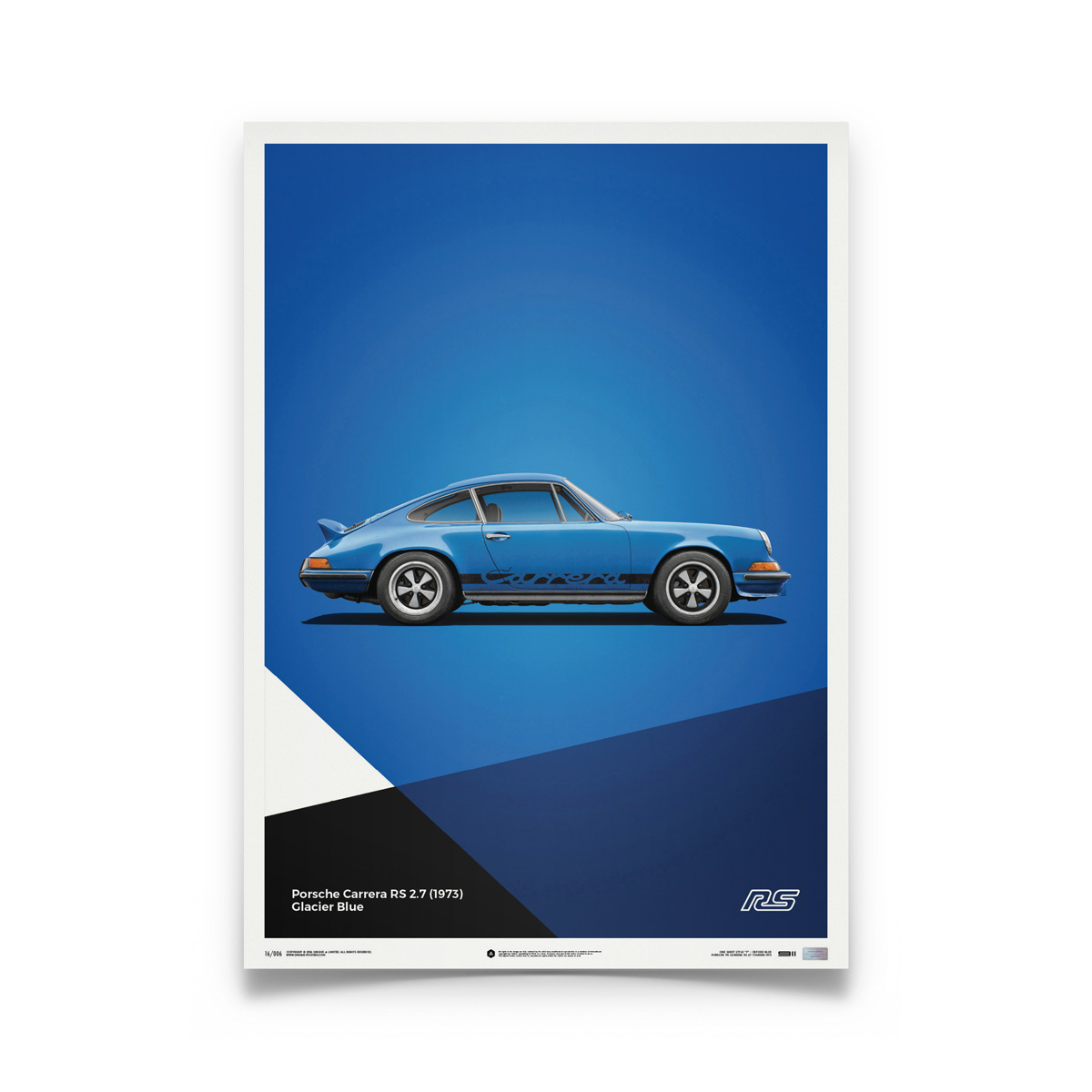 Product image for Porsche 911 RS Blue: Limited Poster
