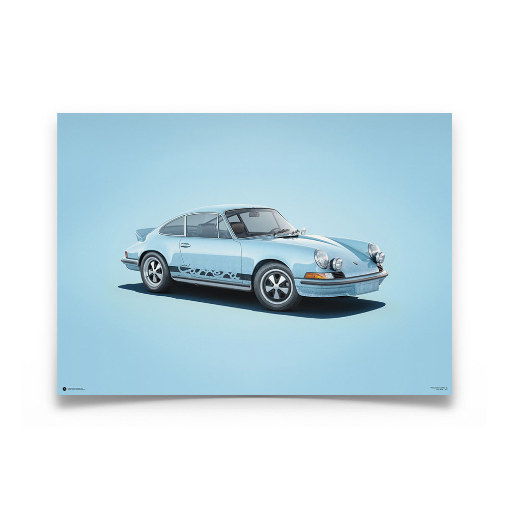 Product image for Porsche 911 RS Blue Colors of Speed Poster