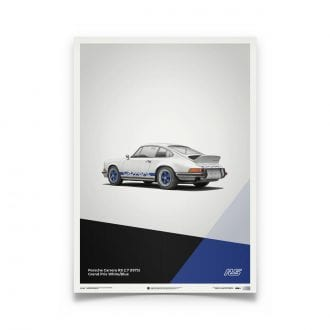 Product image for Porsche 911 RS White: Limited Poster