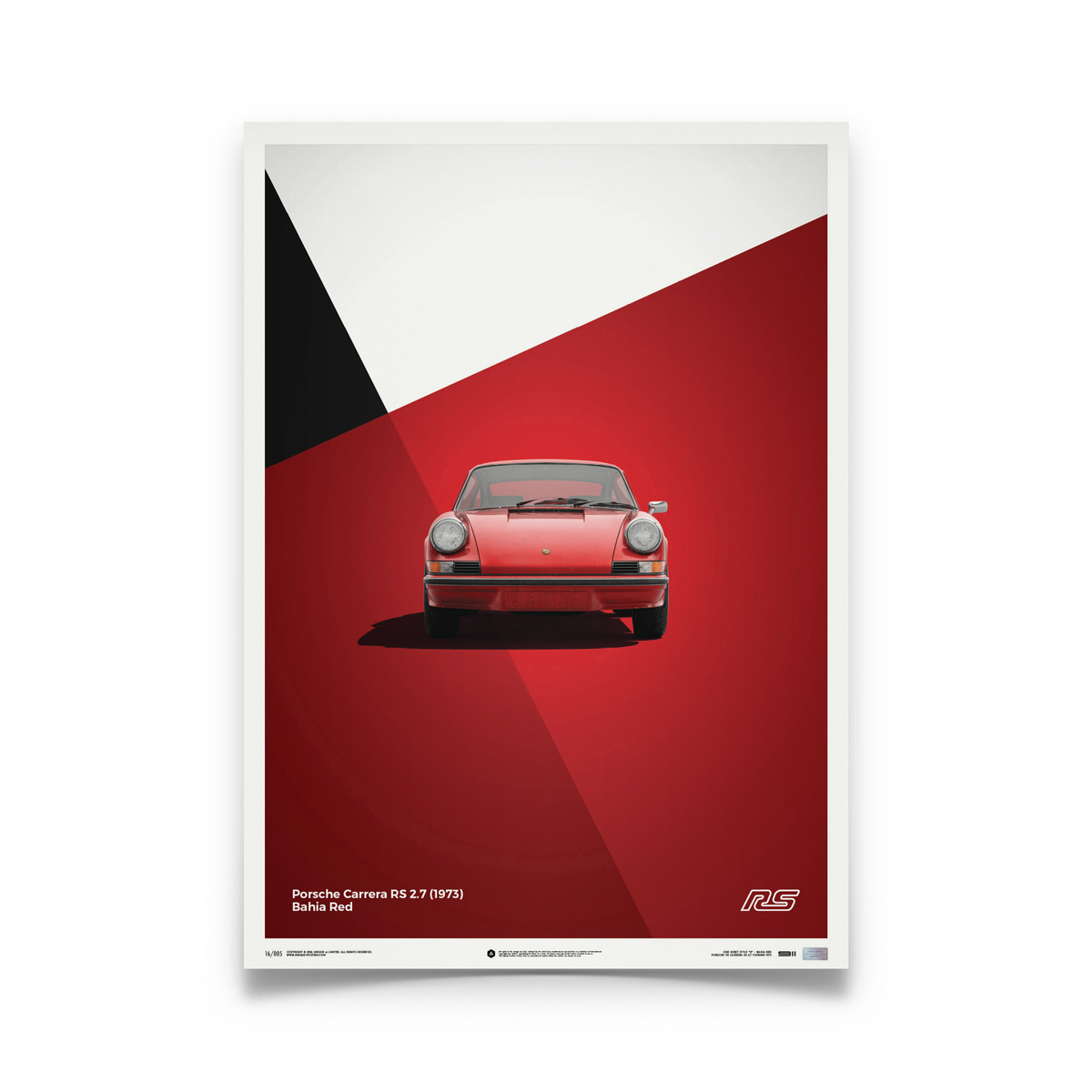 Product image for Porsche 911 RS Red: Limited Poster