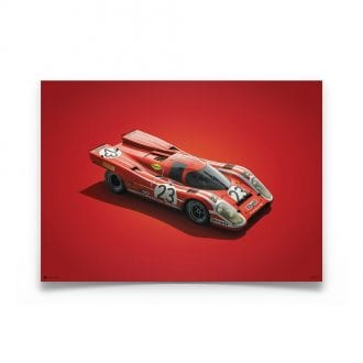 Product image for Porsche 917 Salzburg 24h Le Mans 1970 Colors of Speed Poster