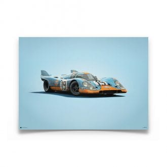 Product image for Porsche 917 Gulf 24h Le Mans 1971 Colors of Speed Poster